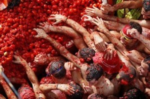 The throwing food festival – Spain