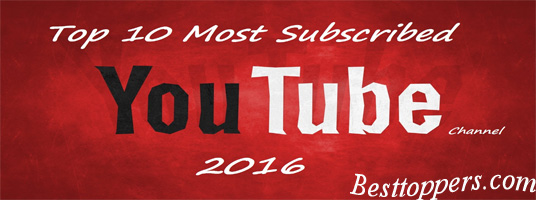 Top 10 Youtube Channels 2016