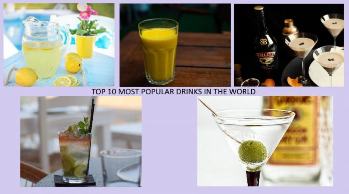TOP 10 MOST POPULAR DRINKS IN THE WORLD