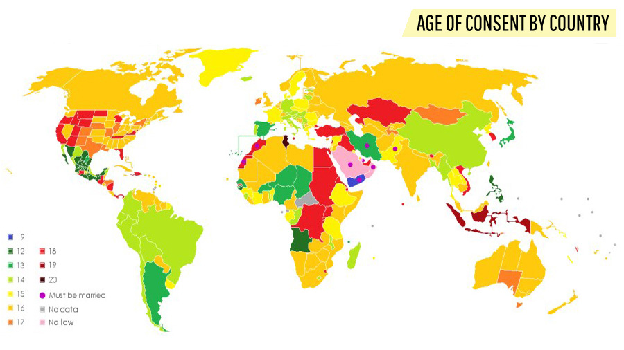 Youngest age of consent in the world