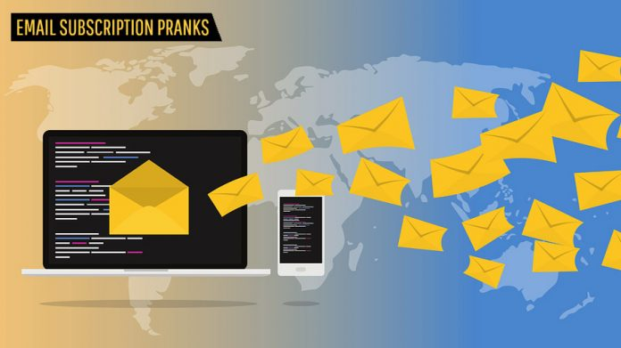 Email Subscription Prank